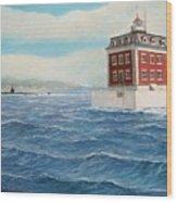 Ledge Lighthouse and submarine Wood Print