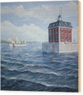 Ledge Lighthouse Wood Print