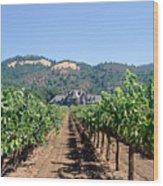 Ledson Winery And Vineyard Sonoma County California Wood Print
