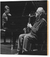 Lee Konitz 1 B And W Wood Print
