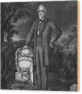 Lee Visits The Grave Of Stonewall Jackson Wood Print