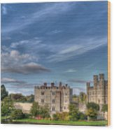 Leeds Castle And Moat Rear View Wood Print
