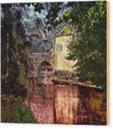 Leeds Castle Gatehouse And Moat Wood Print