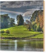 Leeds Castle Lake View Wood Print