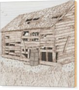 Lee's Barn Wood Print by Pat Price