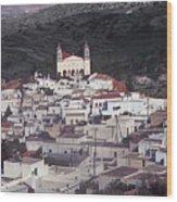 Lefkes Greece Island Of Paros Wood Print