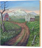 Left Behind - The Old Homestead Wood Print