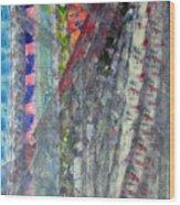 Left Blue Wood Print