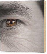 Left Eye Wood Print