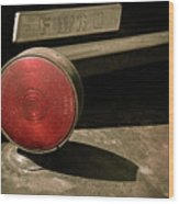 Left Turn Signal Wood Print