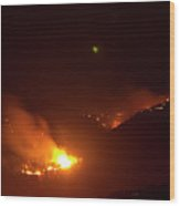 Lefthand Canyon Wildfire Flare Up Boulder County Colorado Wood Print