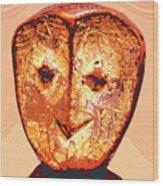 Lega Figure Wood Print