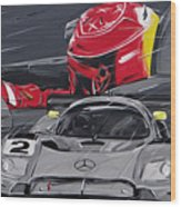 Legend Michael Schumacher Wood Print