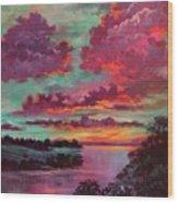 Legend Of A Sunset Wood Print