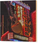 Legends Corner Nashville Wood Print