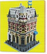 Lego Corner Shop And Apartments Wood Print