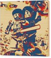 Lego Star Wars IIi The Clone Wars Wood Print