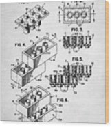 Lego Toy Building Brick Patent Wood Print