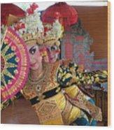 Legong Dancer Wood Print