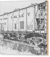 Lehigh Valley Coal Car Wood Print