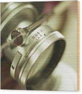 Leica 3c Macro Lens Aperture Ring Wood Print