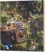 Leica Christmas Wood Print