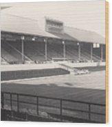 Leicester City - Filbert Street - Main Stand 1 - Bw - 1960s Wood Print