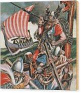 Leif Ericsson, The Viking Who Found America Wood Print