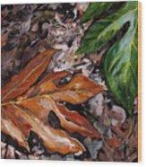 Lemai Leaves Wood Print