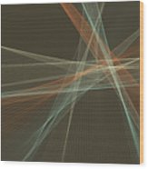 Lemans Computer Graphic Line Pattern Wood Print