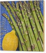 Lemon And Asparagus  Wood Print