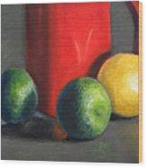 Lemon And Limes Wood Print