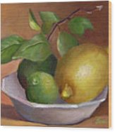 Lemon And Limes Still Life Wood Print