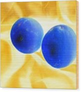 Lemon Blue Wood Print
