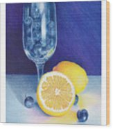 Lemon Blueberry Muffins Wood Print by Elizabeth Dobbs