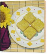 Lemon Candy Bars Wood Print