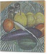 Lemon Cucumbers Wood Print