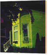 Lemon-drop House Wood Print by Guy Ricketts
