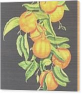 Lemon Mandarine Suite Wood Print