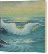 Lemon Seas Wood Print