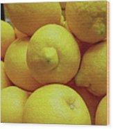 Lemon Squeeze Wood Print