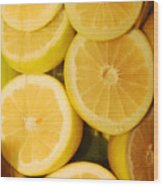 Lemon Still Life Wood Print