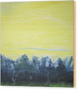 Lemon Sunset Wood Print