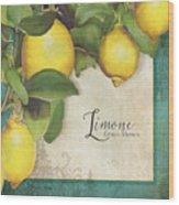Lemon Tree - Limone Citrus Medica Wood Print