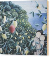 Lemon Trees Wood Print