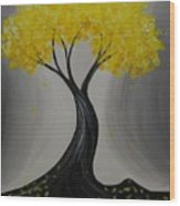 Lemon Twist Wood Print