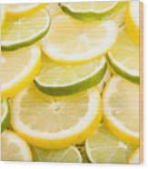 Lemons And Limes Wood Print