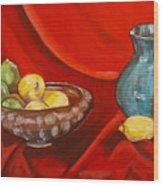 Lemons And Limes Wood Print