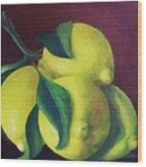 Lemons Wood Print by Dana Redfern