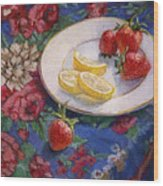 Lemons N Berries Wood Print
